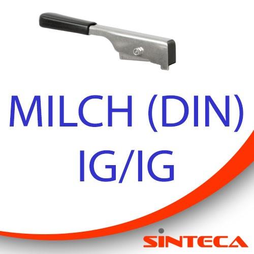 Scheibenventil Milch IG/Milch IG mit Edelstahl-Handhebel