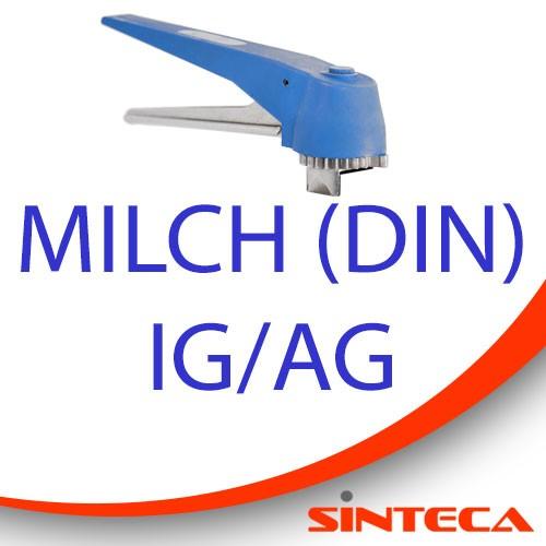 Scheibenventil Milch IG/Milch AG mit Kunststoff-Handhebel in 13 Stellungen arretierbar