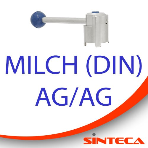 Scheibenventil Milch AG/Milch AG mit Kugel-Zug-Dreh-Handhebel