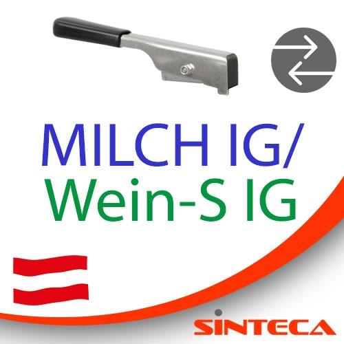 Scheibenventil Milch IG/Wein-S IG mit Edelstahl-Handhebel