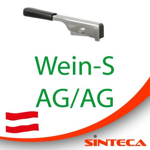 Scheibenventil Wein-S AG/Wein-S AG mit Edelstahl-Handhebel