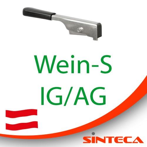 Scheibenventil Wein-S IG/Wein-S AG mit Edelstahl-Handhebel