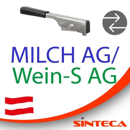 Scheibenventil Milch AG/Wein-S AG mit Edelstahl-Handhebel