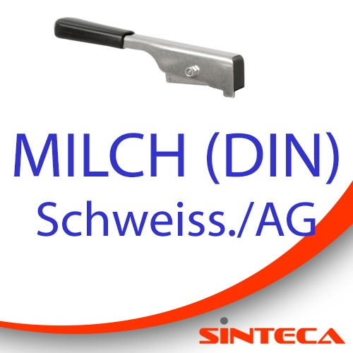 Scheibenventil Schweissst./Milch AG mit Edelstahl-Handhebel