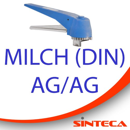 Scheibenventil Milch AG/Milch AG mit Kunststoff-Handhebel in 13 Stellungen arretierbar